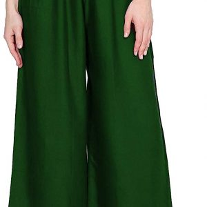 Rayon Dark Green Palazzo Pant for women