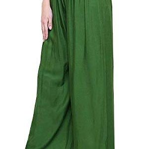 Rayon Green Palazzo Pant for women