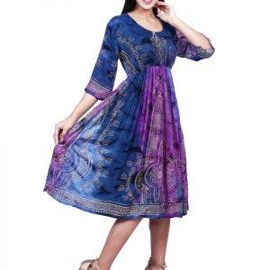 Rayon fabric Blue kurti