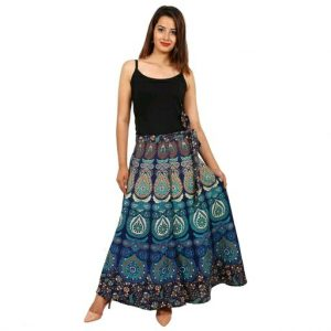 Cotton jaipuri printed skirt