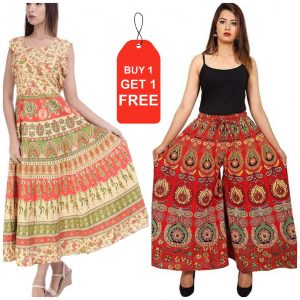 cotton jaipuri frock