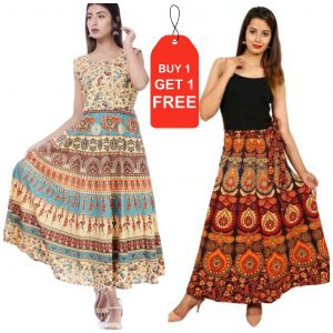 cotton jaipuri frock with get jaipuri shirt free