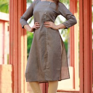 Cotton two tone fabric kurti